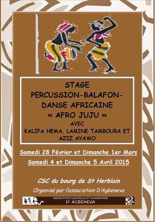 stage percussion danse africaine