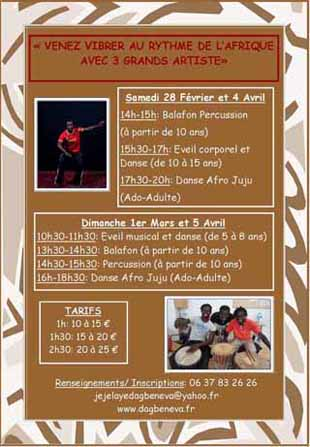stage de percussion danse africaine